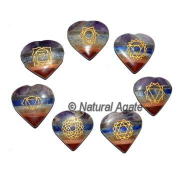 Engraved Bonded Chakra Heart Set