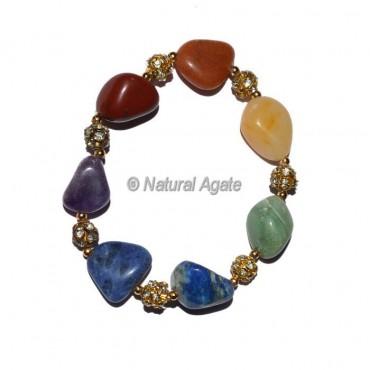 7 Chakra Tumbled Yoga Bracelet