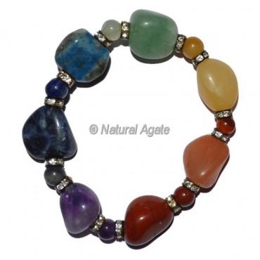 Seven Chakra Tumbled Stone Bracelet