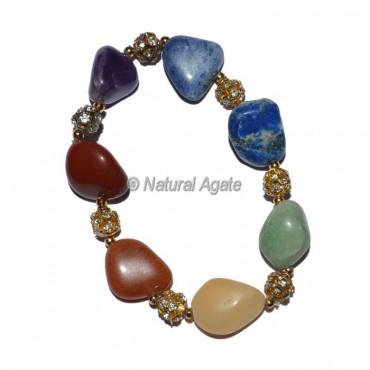 Healing Crystals Seven Chakra Bracelet