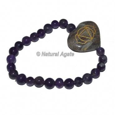 Brow Chakra Symbol Engraved Oval Bracelets