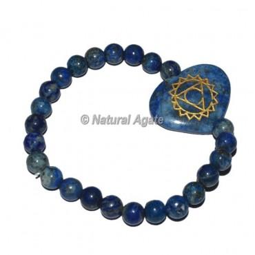 Throat Chakra Symbol Engraved Oval Bracelets