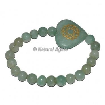 Chakra Heart Symbol Engraved heart Shape Bracelets