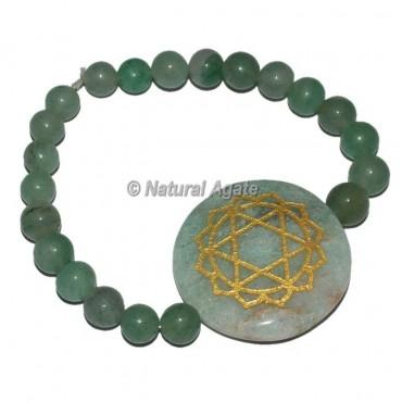 Chakra Heart Symbol Engraved Round Bracelets