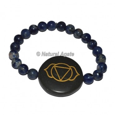 Brow Chakra Symbol Engraved Round Bracelets