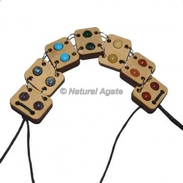 Seven Chakra Wooden Bracelets