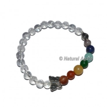 Crystal Quartz Stone Seven Chakra Bracelets