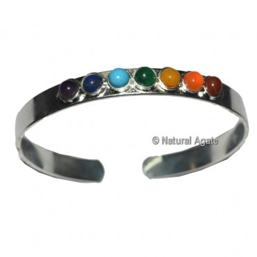 7 Chakra Silver Bracelet