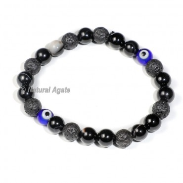 7 Chakra with 2 Evil Eye Beads