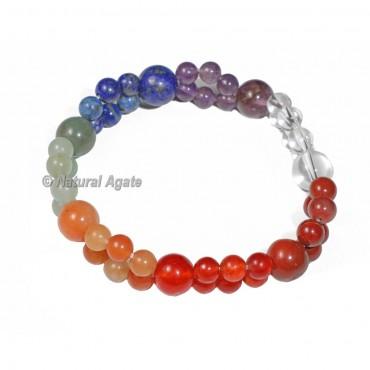 Double Layer 7 Chakra Bracelet
