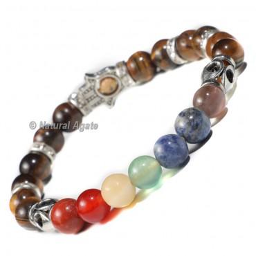 7 Chakra Bracelet with Tiger Eye