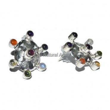 Round Shape 7 Chakra Earrings