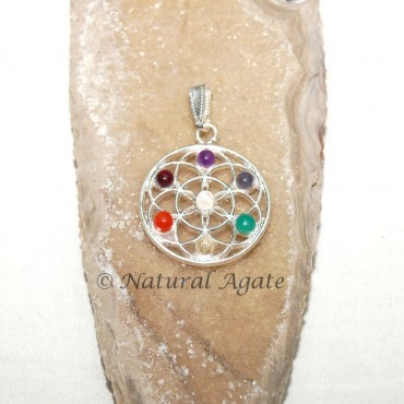 Flower of Life Chakra pendants