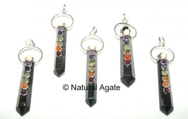 Chakra Double Point Pendants