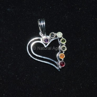 Seven Chakra Heart Pendant