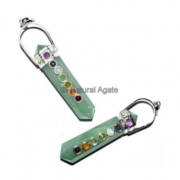 Green Aventruine Duble Terminated Chakra Pendant
