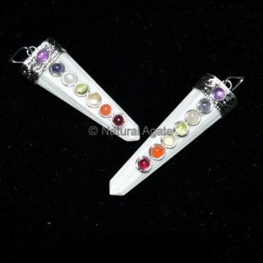 Selenite Crystals Chakra Pendant