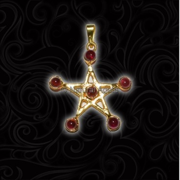 Pentagram Seven Chakar Garnet Set