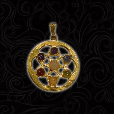 Pentagram 7 Chakra Pendant