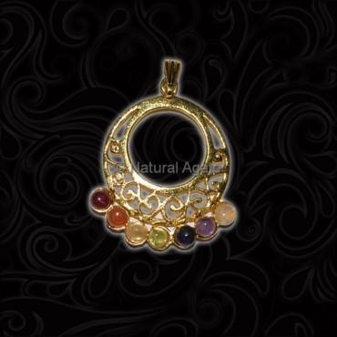 Golden Plated 7 Chakra Pendant