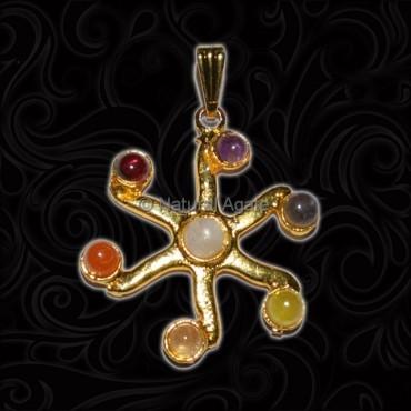 Wholesale 7 Chakra Pendant Flower