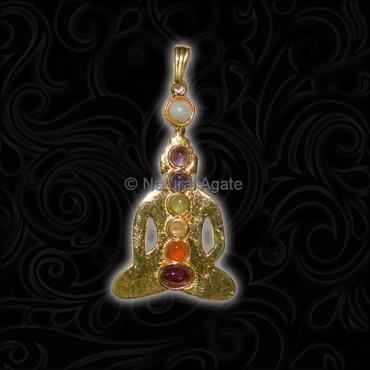 Buddah Seven Chakra Pendant