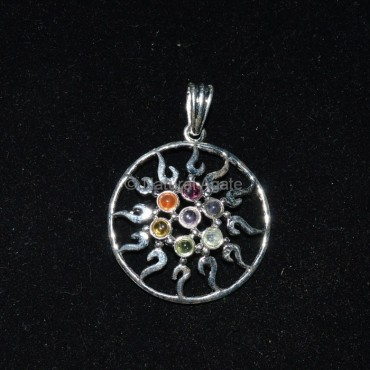 Mandala Seven Chakra Pendant