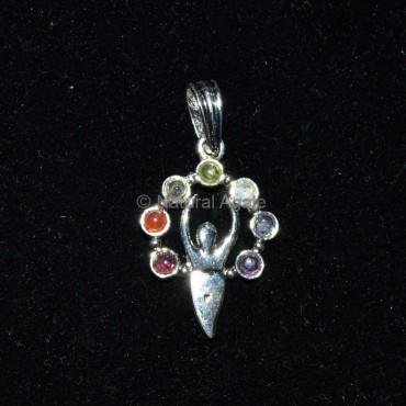 Goddess Seven Chakra Pendant