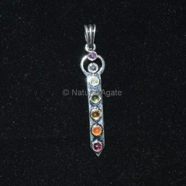 Man Seven Chakra Pendant