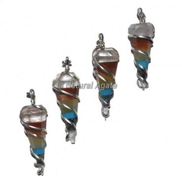 7 Chakra Pendulum Metal Pendants