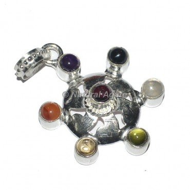 Round 7 Chakra Metal Pendants