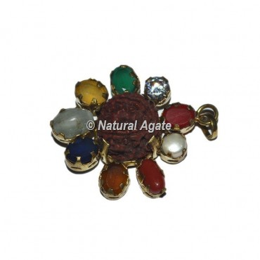 Nine Stone with Rudraksha Pendants