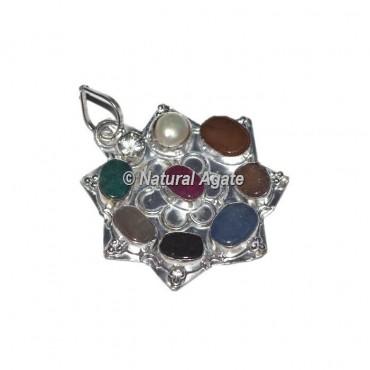 Agate 9 Plate Healing Pendants