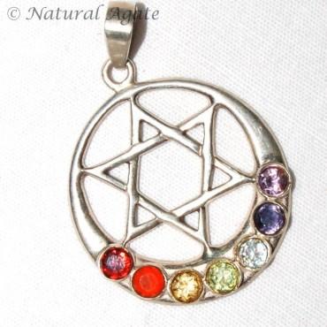 Chakra Silver Star Pendants