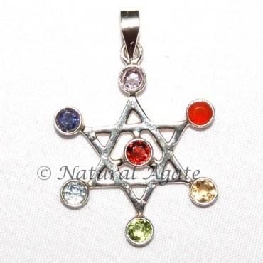 Pentagram Star Chakra Pendant