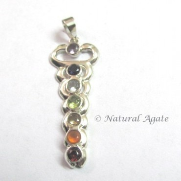 Chakra Pendants With Faceted