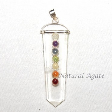 Crystal Quartz Chakra Pendant