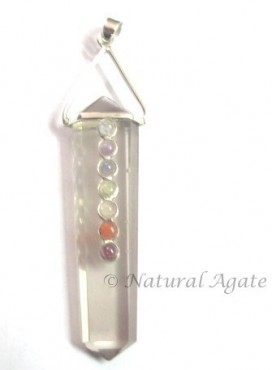 Crystal Pointed Chakra Pendants