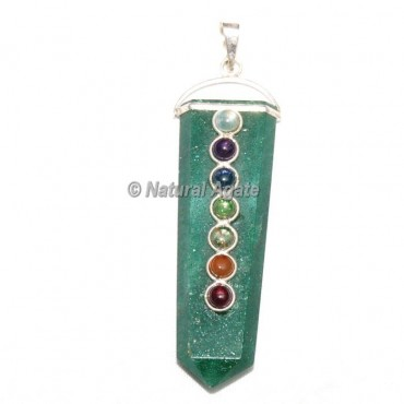 Green Aventurine Pencil Pendants