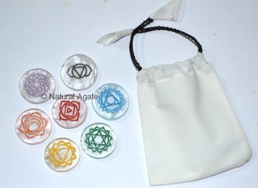 Crystal Chakra Color Set Disc With Pouch
