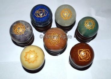 Chakra Engraved Ball Set