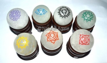 Chakra Enegraved Color Ball Set