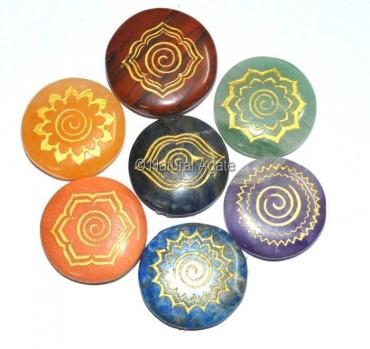 Chakra Engraved Energy Set