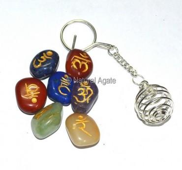 Chakra Sanskrit Keychain Set