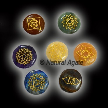 Traditional Engraved Chakra Set