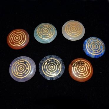 Engraved Wheel Chakra Set