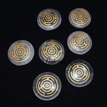 Crystal Quartz Wheel Chakra Set