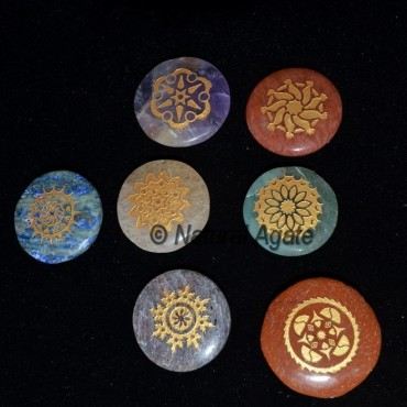 Engraved Traditional Chakra Set