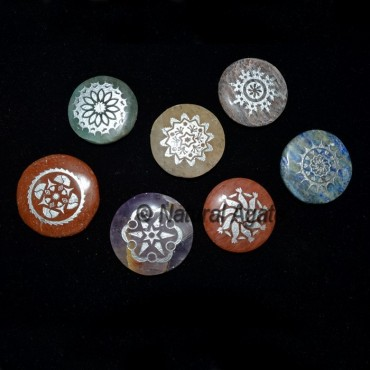 Engraved Silver Traditional Chakra Set