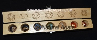 Engraved Chakra Tumbled Set with Chakra Box